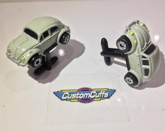 VW Beetle - Vintage Micro Machine Car Cufflinks. Perfect Christmas Gift