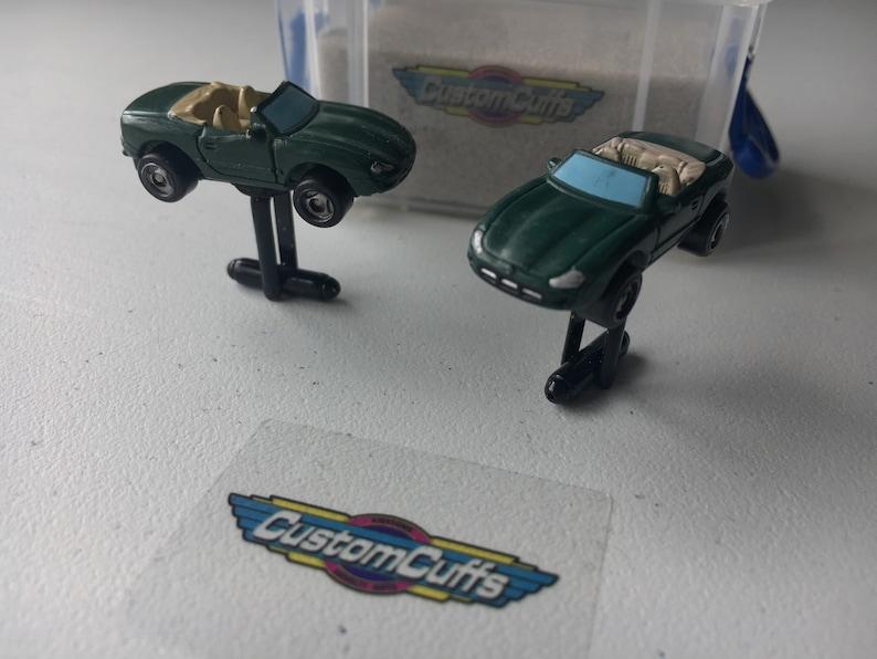Jaguar XK8 British Racing Green - Vintage Micro Machine Cufflinks  Perfect  fathers day / valentines / birthday / wedding or christmas gift