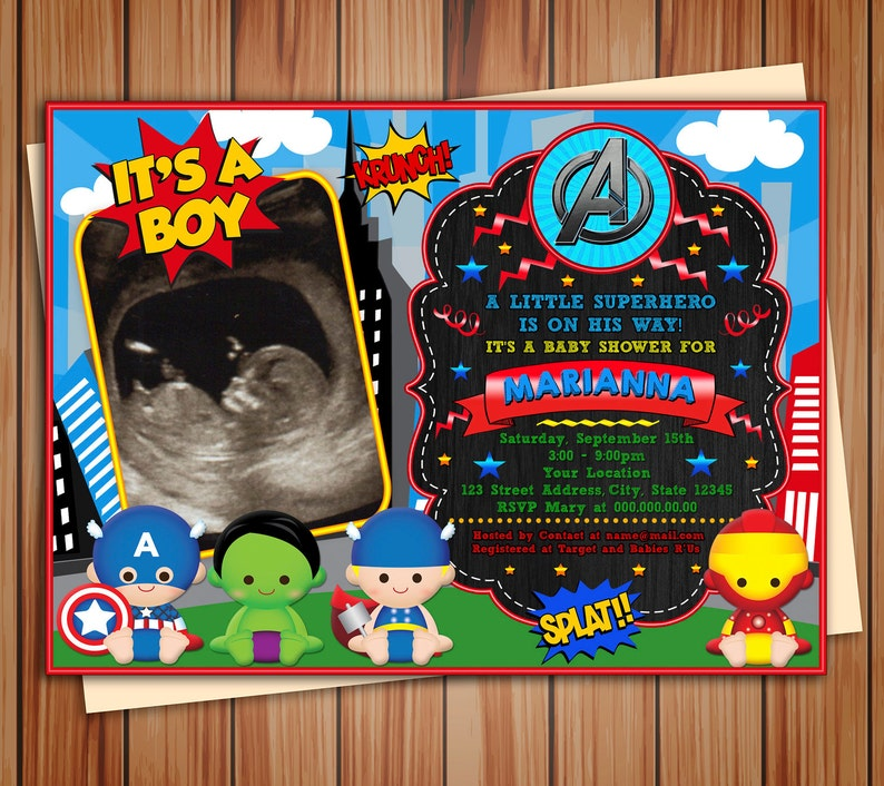 photo about Free Printable Superhero Baby Shower Invitations identify Tremendous infants Avengers photograph Invitation Boy or girl Shower, electronic chalkboard Child Shower invitation Tremendous toddlers, Thank your self card no cost!
