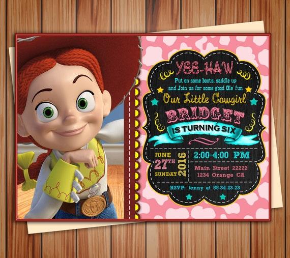Foto De Cumpleaños De Jessie Vaquera Toy Historia Invitación Etsy