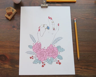 Original Marker Illustration - OK Hand ORIGINAL