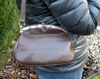 Minimalist Bag, Small Leather Bag, Garnet Vintage Bag, Women Purse, Everyday Bag, Leather Shoulder Bag, Bags and Purses, Womens Satchel