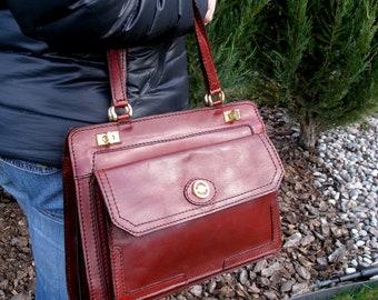 vintage leather bag-leather purse-brown leather bag-leather satchel-women leather purse-leather women's bag-brown bag