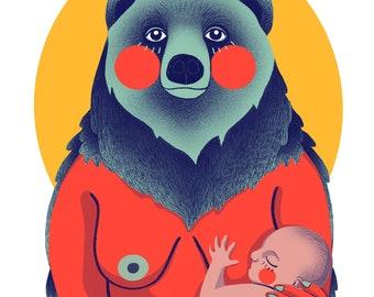 Mama Bear - Art Print