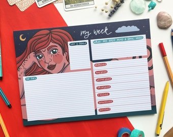 Weekly Planner Pad for Wild Women