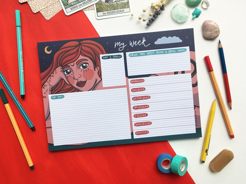 Weekly Planner Pad for Wild Women image 0