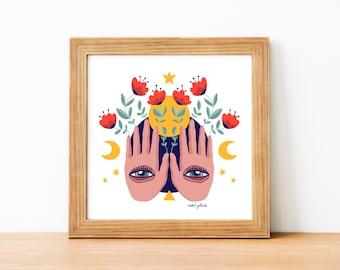 Magic Hands Illustration - Art Print
