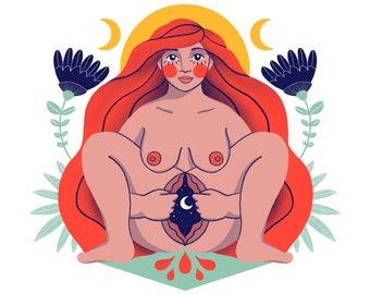 Sheela-na-gig - Art Print