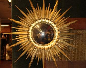 6de74a00a0d1 Gold sunburst mirror Antique sunburst mirror Vintage sunburst mirror Gold sun  mirror Giltwood wall mirror Starburst mirror French vintage