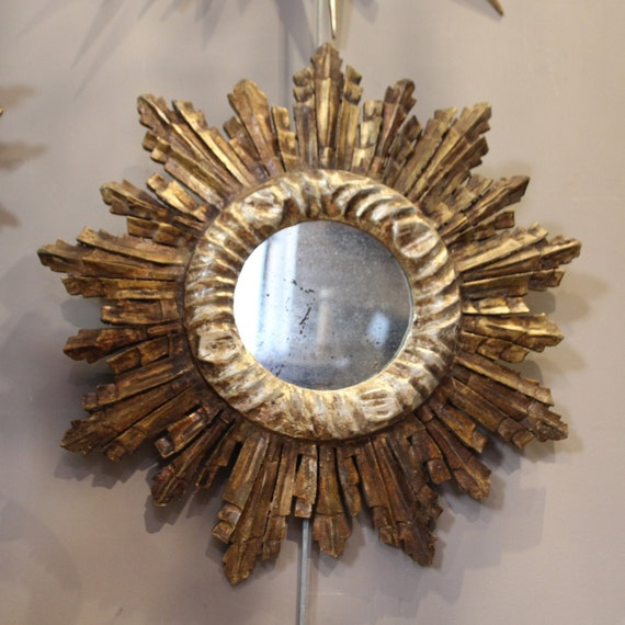 Gold Mirror Sun Mirror Entryway Mirror Bedroom Sunburst Mirror Etsy