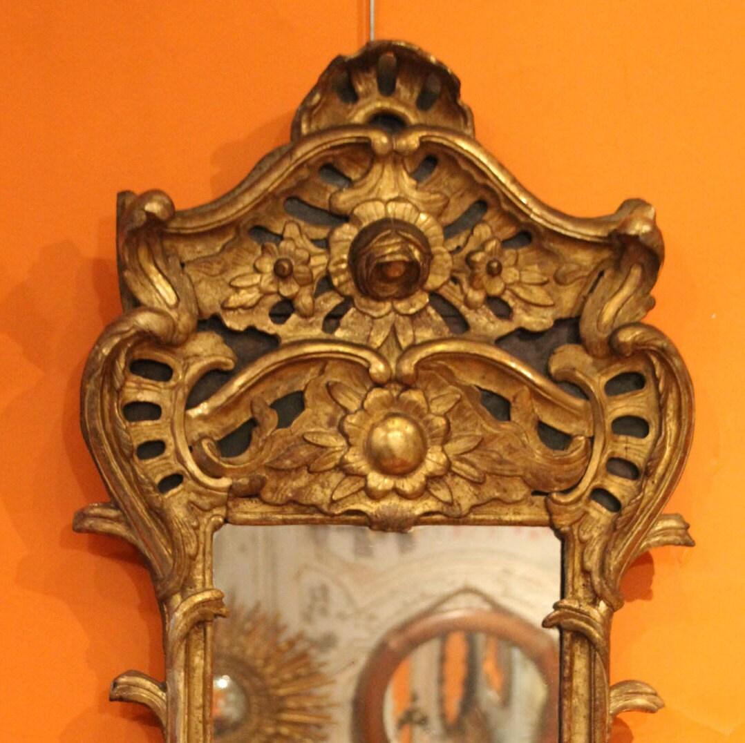 Gold-Spiegel großer Spiegel Gold Rahmen Spiegel vergoldeten   Etsy
