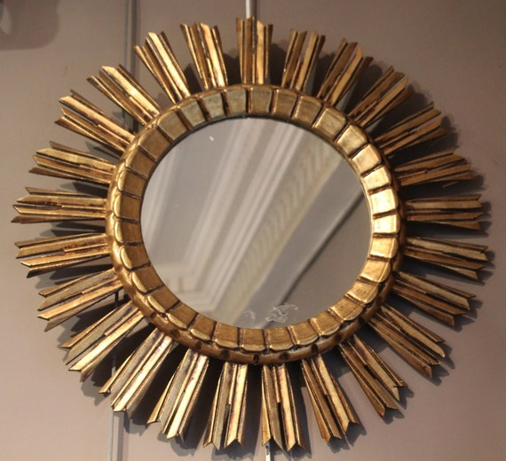 Mirror Wall Decor Mirror Frame Gold Mirror Sun Mirror French Etsy