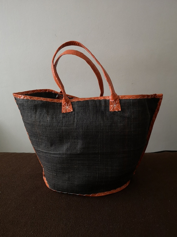 Shopping bag Straw basket bag French straw bag Str