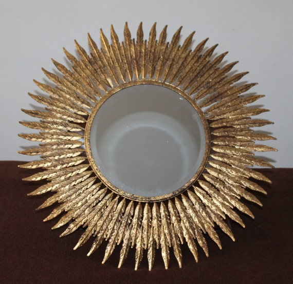 Gold Mirror Mirror Wall Decor Sun Mirror Sunshine Mirror Etsy