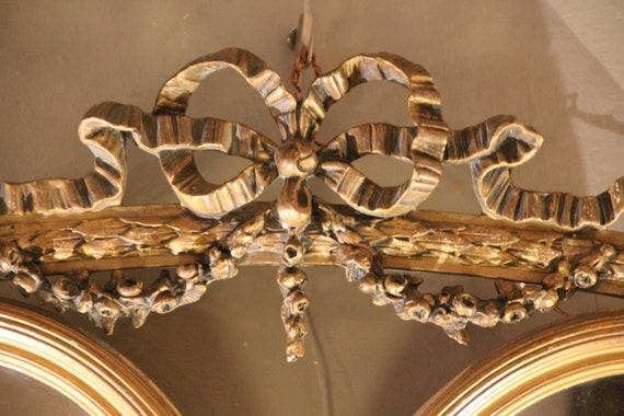 Vintage Spiegel Goud : Gouden spiegel dubbele spiegel gilt frame spiegel goud frame etsy