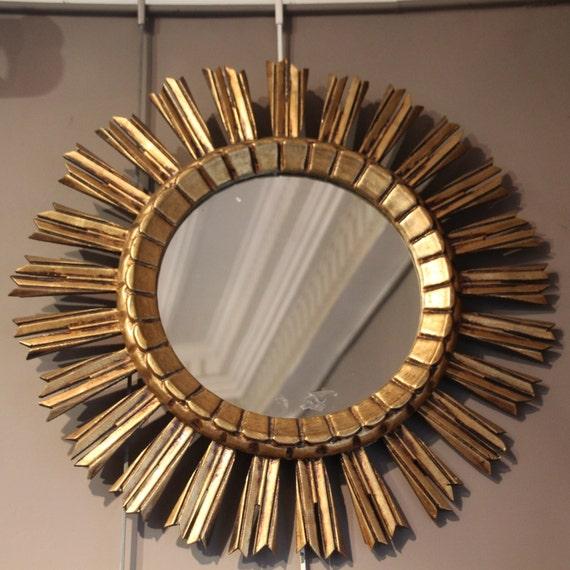 Mirror Wall Decor Mirror Frame Gold Mirror Sun Mirror French Etsy