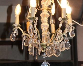 Lustre en cristal éclairage plafond lustre chambre lustre salle à manger Français antique lustre Vintage lustre cristaux light