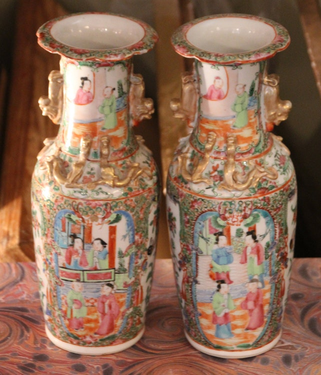 Chinese Antique Porcelain Vase Pair Of Vases Chinese Porcelain Etsy