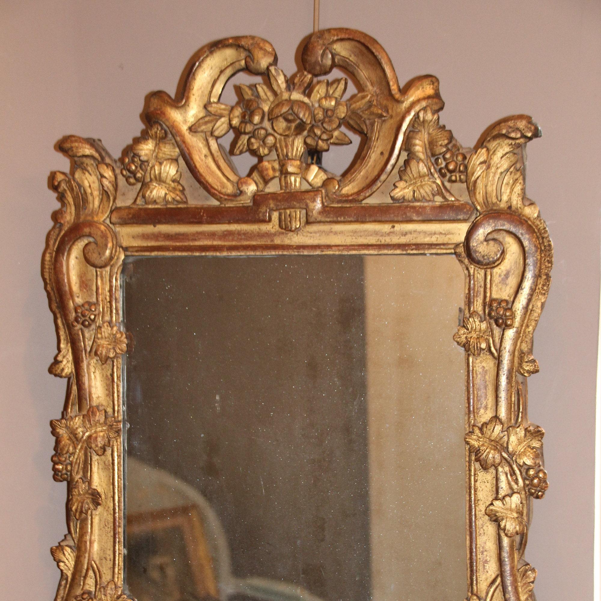 Französische antiker Spiegel Provence Spiegel Provence Stil   Etsy