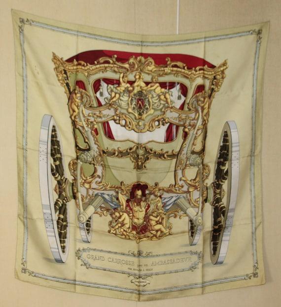 HERMES Scarf French vintage silk scarf Hermes Fren