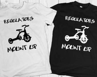 Regulators Mount Up T-Shirt - Toddler - Youth T-Shirt - Tricycle - Warren G - Nate Dogg - Funny T-Shirt for kids - 90's hip hop