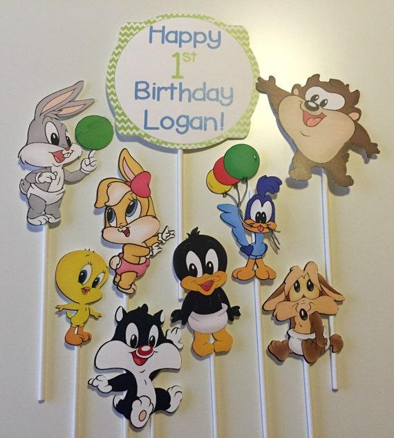 Baby Looney Tunes Centerpiece Picks Centerpieces Bugs Etsy