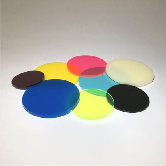 "7/"" INCH CIRCLE Clear 1//8/"" Acrylic Plexiglass Circle Round Disc Shape Plastic"