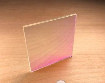 Beautiful Iridescent Plexiglass Acrylic Sheet - Perfect for Laser Cutting