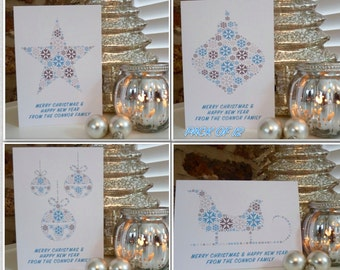 Personalised Pack of 12 Christmas Cards, Christmas cards, Family Christmas Cards, Personalised Cards, Personalized Cards