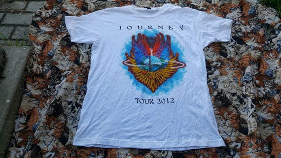Journey Tour Shirt Size Large San Francisco Used Damaged Thrashed Steve Perry Band Tee Rock N Roll Metal by Etsy