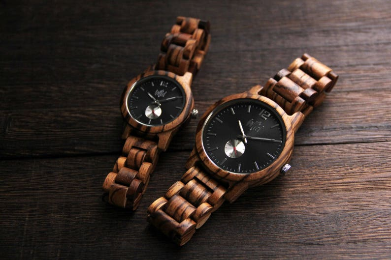 06a4285b095 Couples Gift 5th anniversary gift Wood Watch Wedding Gift