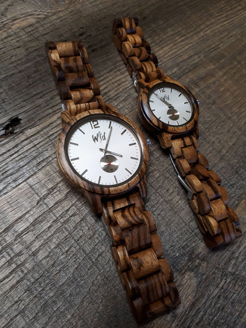 45deb4cf8bf Couples watches 5th anniversary gift Wood Watches Wedding