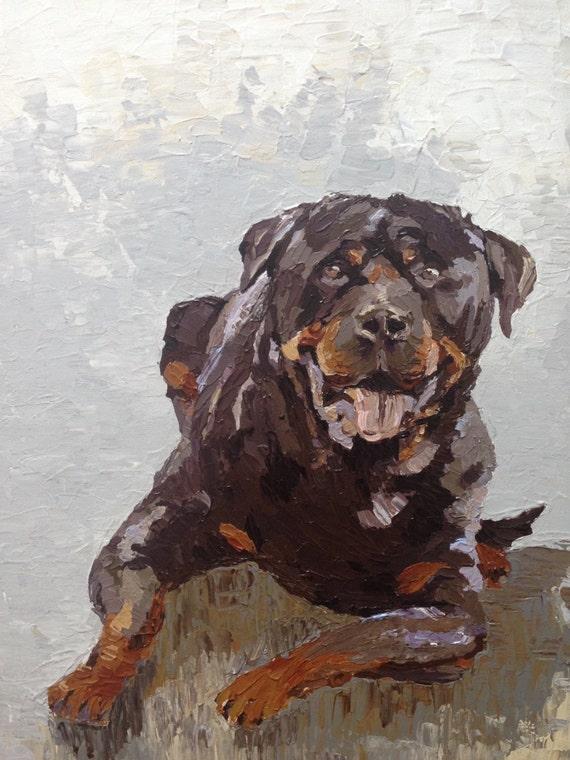 GREAT PYRENEES dog  art print animals impressionism 11x14 modern