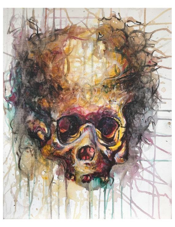 Skull Print menschliche Schädel Anatomie Poster Kunstdruck