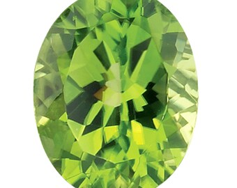 Green Cut Stone Oval Faceted Peridot Gemstone 5x7 MM Peridot Stone Loose Peridot Stone for Making Jewelry Vatslacreations Peridot Gemstone Loose Periodot Cabochon
