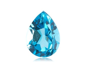 3x5 mm Undrilled Swiss Blue Topaz Pear Cut AAA quality 5 carets ON SALE