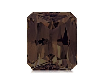 Smokey Quartz 14x12 Emerald Cut Single Stone 9.00cts