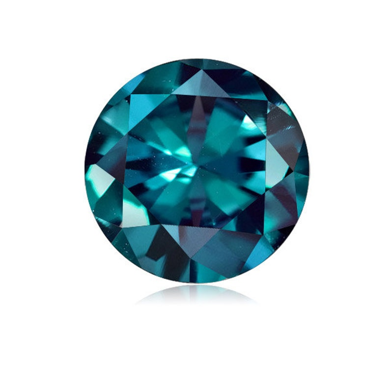 Lab Created Alexandrite Round shape AAA Quality from 4MM-10MM image 0