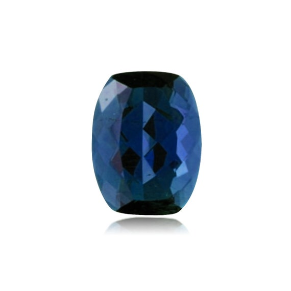 Synthetic Elongated Cushion Checkered Swiss Made Rough Blue Sapphire from 6x4MM