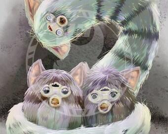 Furby Nest print