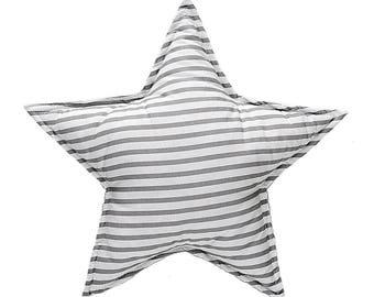 Pillow Star - Grey Stripes