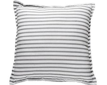 Pillow Square - Grey Stripes