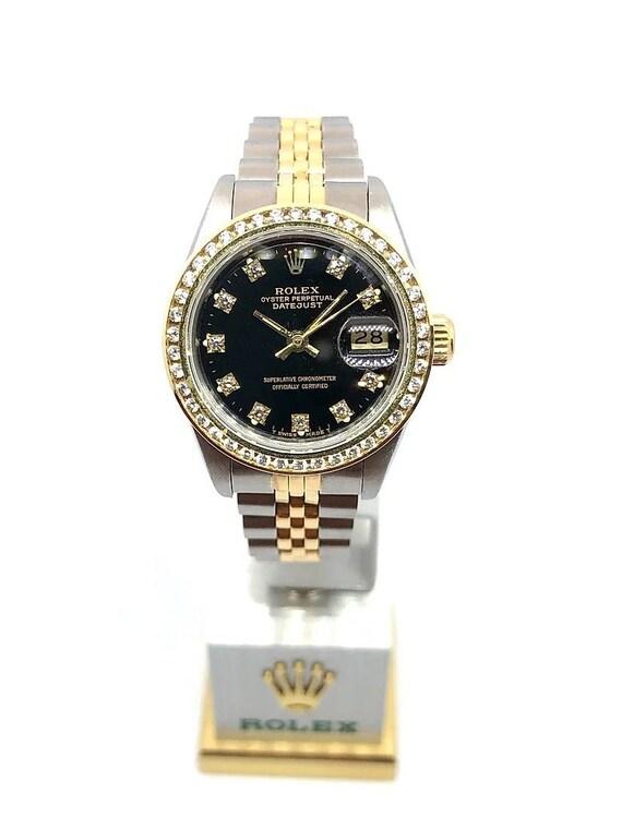 Rolex Datejust / Mens Diamond Rolex / Two Tone / B