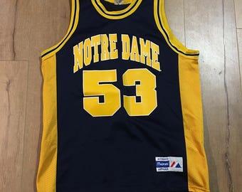 VTG Deadstock NCAA Notre Dame Fighting Irish Majestic #53 Jersey Mens XL