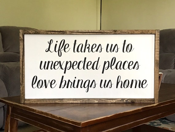 Life Quotes Deployment Wall Military Art Wood Sign Home Etsy