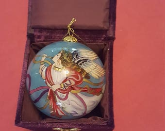Reverse painting Christmas ornament