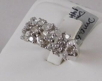 Natural, Diamond Anniversary Band. 1.50 Carats TW. 14k White Gold