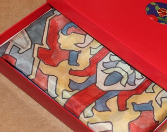 67-22 in silk cotton blend high quality Armenian rug pattern   scarf