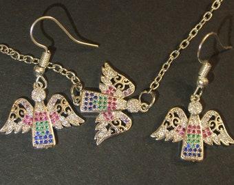 Winged Angel jewelry set