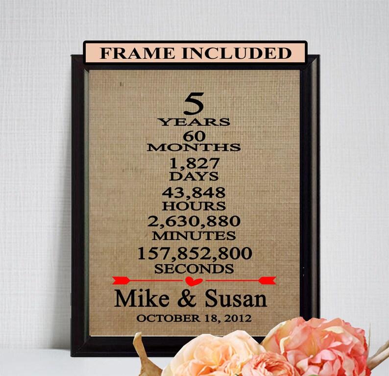 5 Hochzeitstag Geschenk 5 Jahrestagsgeschenk 5 Jahre Ehe Etsy